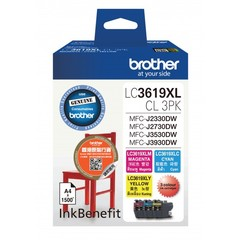 BROTHER LC3619XL COLOR PACK INK