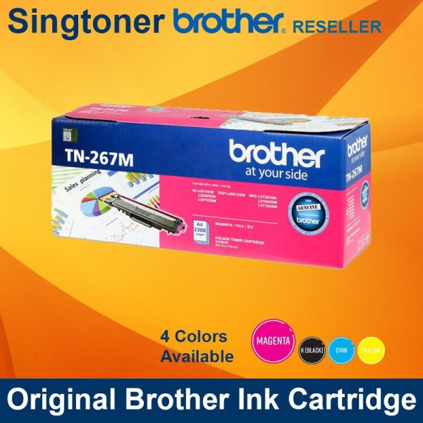 Brother TN-267 High Yield Toner Cartridge (MAGENTA)