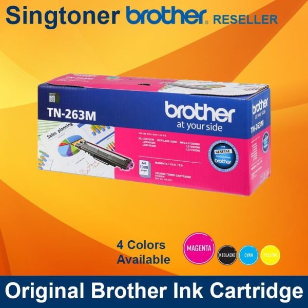Brother TN-263 Standard Yield Toner Cartridge (MAGENTA)