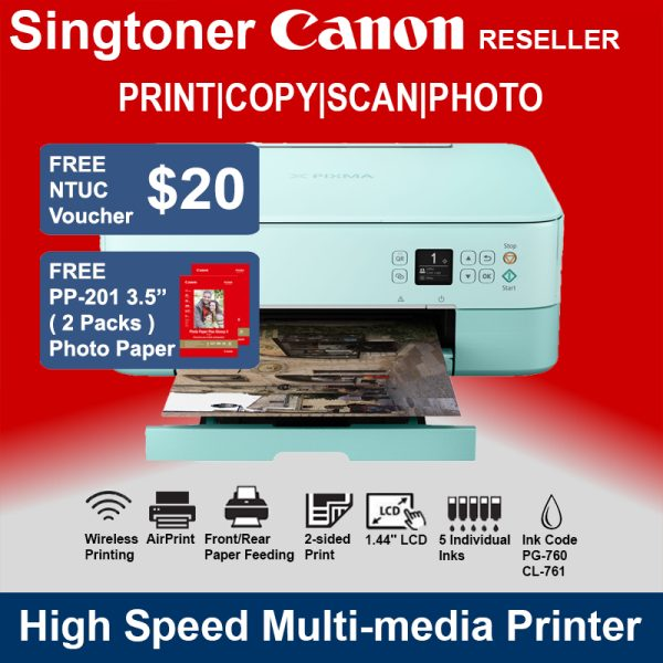 CANON PIXMA TS5370 Printer Green