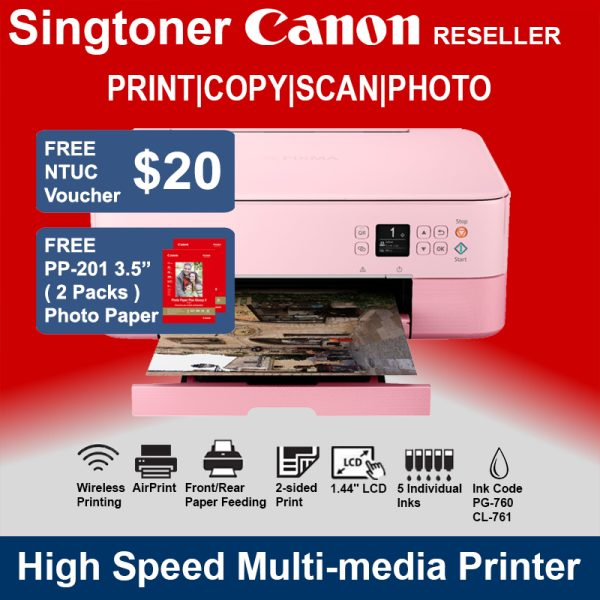 CANON PIXMA TS5370 Printer Pink