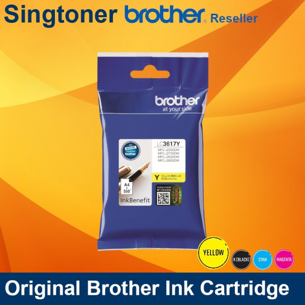 BROTHER LC3617 YELLOW INK