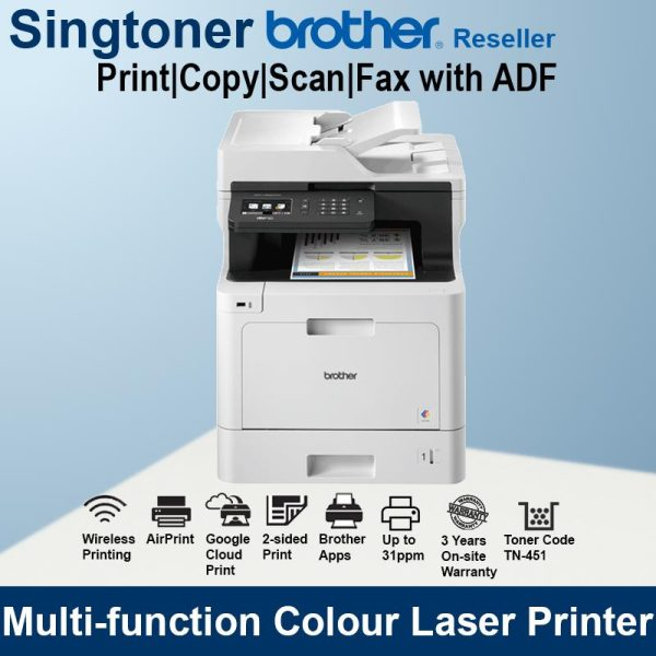 Brother MFC-L8690CDW Colour Multi-Function Centre with Automatic 2-sided Features and Wireless Connectivity Laser Printer MFC L8690CDW L8690 MFC L8690 CDW