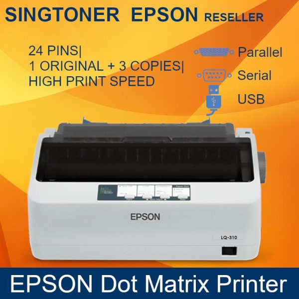 [Singapore Warranty] Epson LQ-310 Dot Matrix Printer  LQ310 LQ 310 other