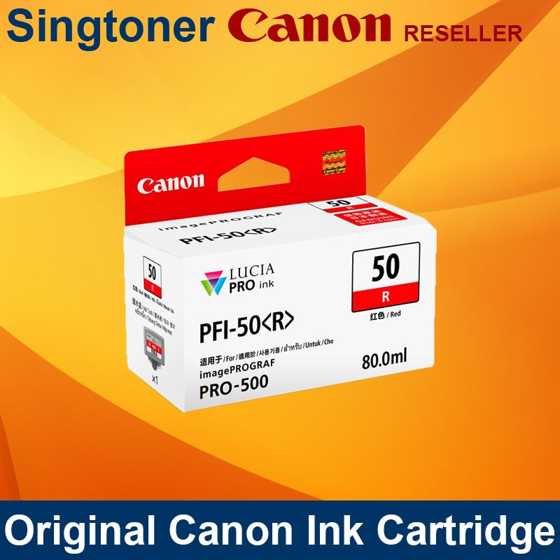 [Original] Canon PFI-50 PFI 50  PFI50 MATTE BLACK / PHOTO BLACK / CHROMA OPTIMIZER / CYAN / MAGENTA / YELLOW / PHOTO CYAN / PHOTO MAGENTA / GRAY / PHOTO GRAY / RED / BLUE INK for imagePROGRAF PRO-500