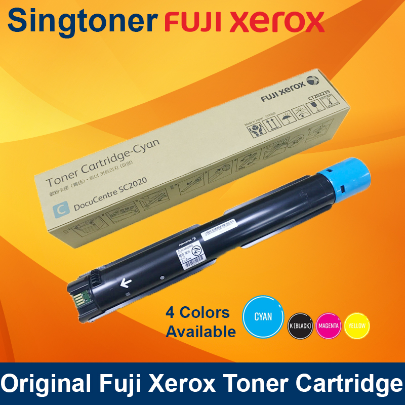 [Original] Fuji Xerox CT202238 CT202239 CT202240 CT202241 Black Cyan Magenta Yellow Toner for DocuCentre SC2020