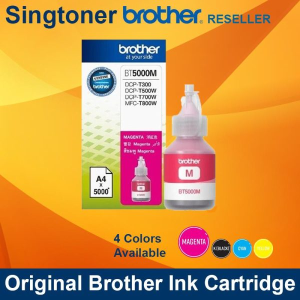 BROTHER BT5000 MAGENTA INK BOTTLE