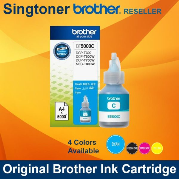 BROTHER BT5000 CYAN INK BOTTLE
