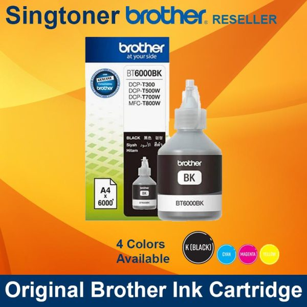 BROTHER BT6000 BLACK INK BOTTLE